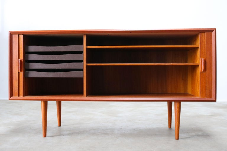 Small Rare Danish Sideboard / Credenza by Svend Aage Madsen for Faarup 1950 Teak For Sale 1