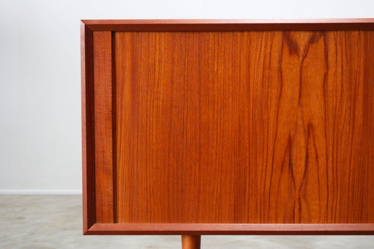 Small Rare Danish Sideboard / Credenza by Svend Aage Madsen for Faarup 1950 Teak For Sale 3