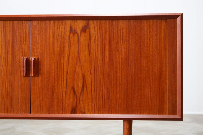 Small Rare Danish Sideboard / Credenza by Svend Aage Madsen for Faarup 1950 Teak For Sale 4