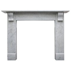 Small Reclaimed Victorian Carrara Marble Fireplace Surround
