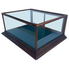 Small Rectangular Mahogany And Glass Table Display Case