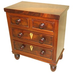 Small Regency Mahogany Miniature Chest