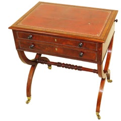Small Regency Mahogany Writing Table