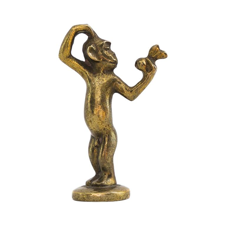 Small Richard Rohac Monkey Figurine, circa 1950s