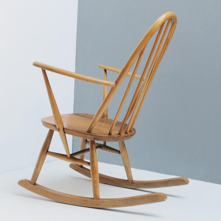 Small Rocking Chair by Lucian Ercolani for Ercol For Sale 3