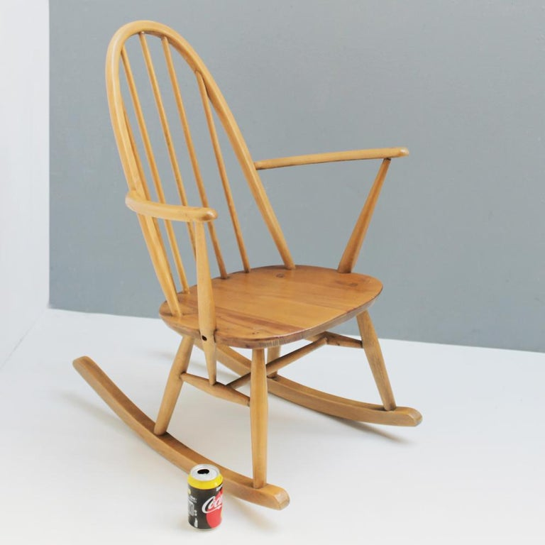 Small Rocking Chair by Lucian Ercolani for Ercol For Sale 4