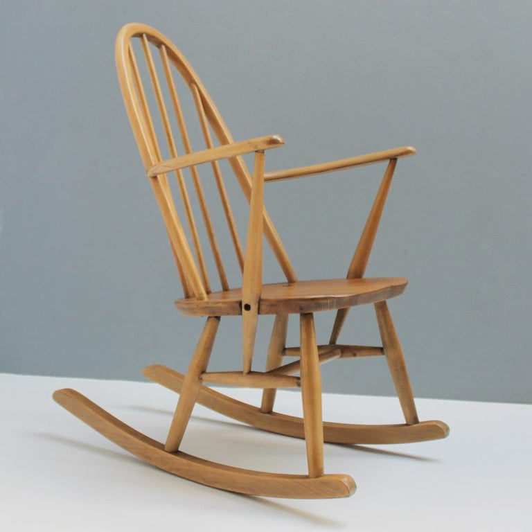 Small Rocking Chair by Lucian Ercolani for Ercol For Sale 5