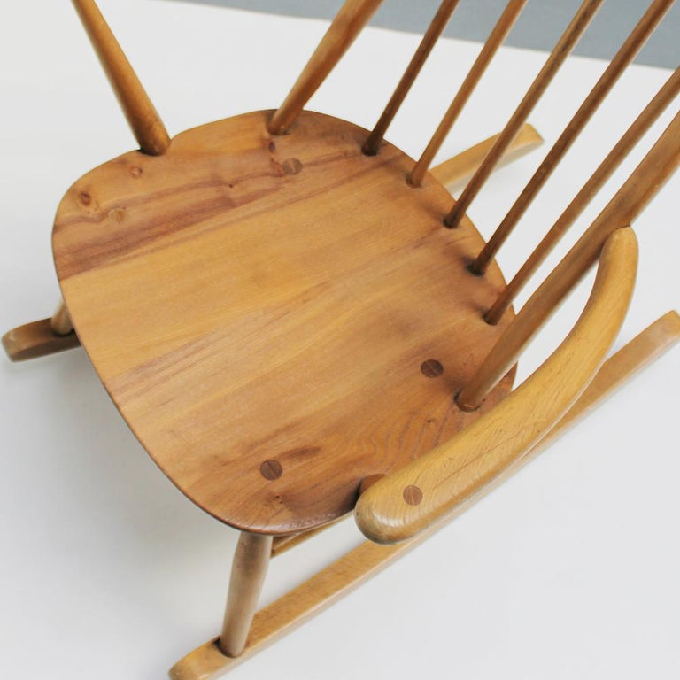 Small Rocking Chair by Lucian Ercolani for Ercol For Sale 6