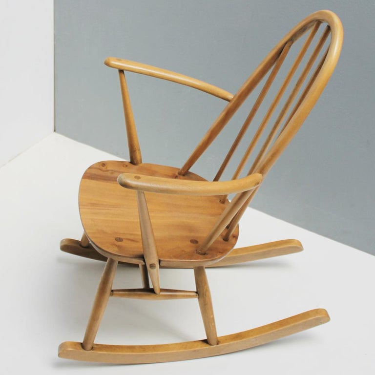 Mid-Century Modern Small Rocking Chair by Lucian Ercolani for Ercol For Sale