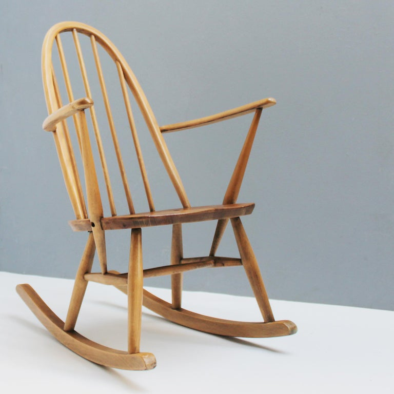 British Small Rocking Chair by Lucian Ercolani for Ercol For Sale