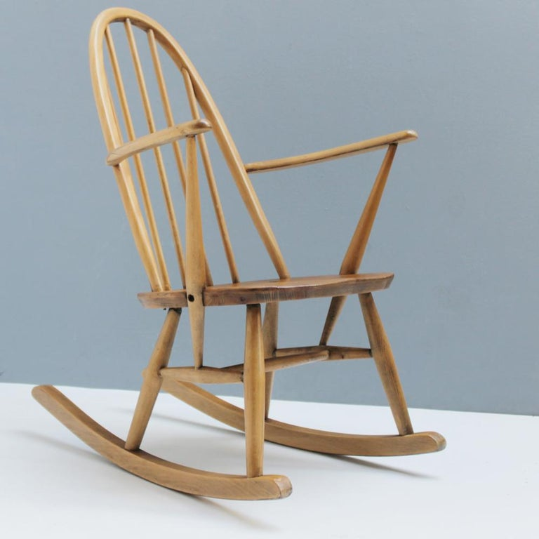Beech Small Rocking Chair by Lucian Ercolani for Ercol For Sale