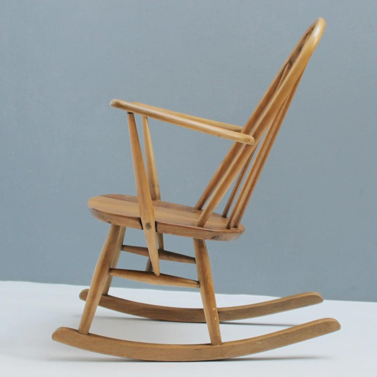 Small Rocking Chair by Lucian Ercolani for Ercol For Sale 2