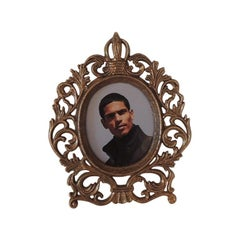 Small Round Brass Decorative Picture Frame