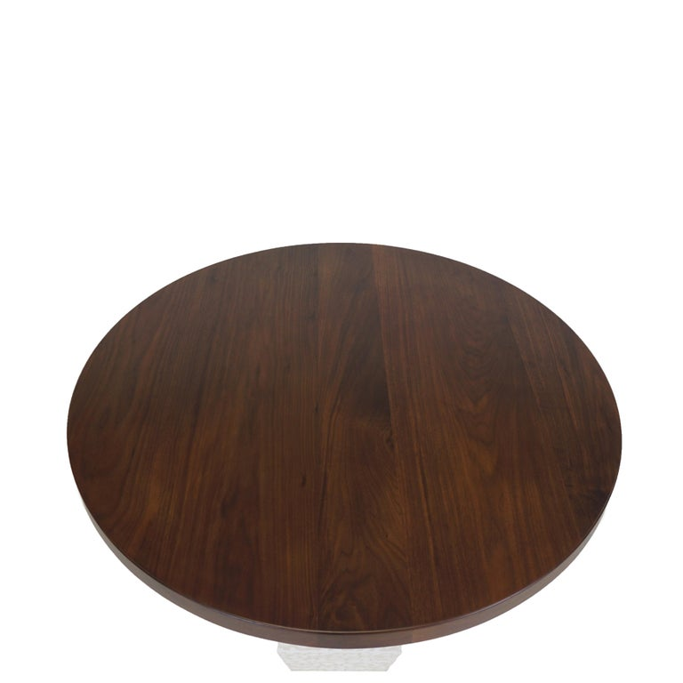 American Small Round Modern Dining Table with Hexagon Pedestal Base 42