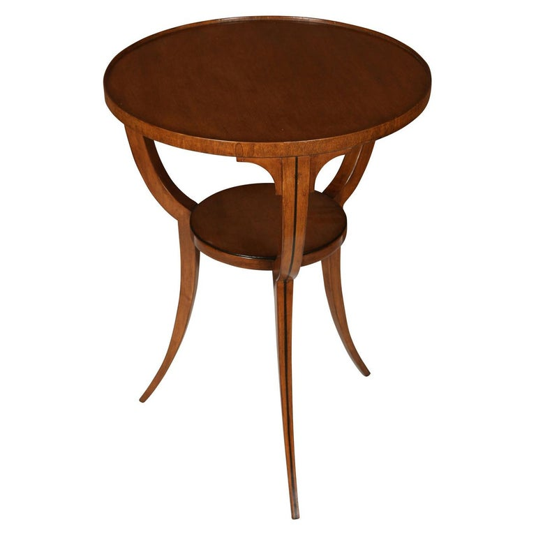 Small Round Neoclassical Style Table For Sale