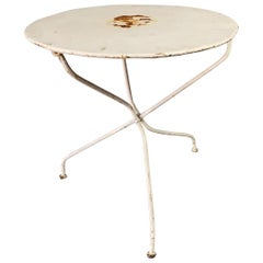 Small Round Painted French Bistro Table