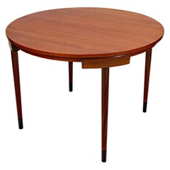 Small Round Teak Dining Table, Frem Røjle