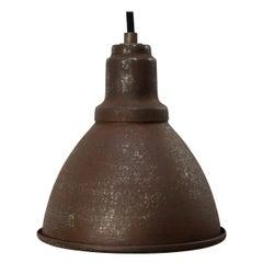 Small Rust Metal Vintage Industrial Factory Pendant Hanging Lights