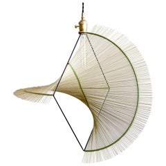Small Ryar Light, Umbrella Sedge Handcrafted Pendant