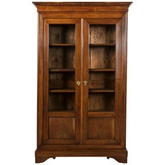 Small Scale 19th Century French Louis Philippe Bibliotheque, Bookcase, Vitrine