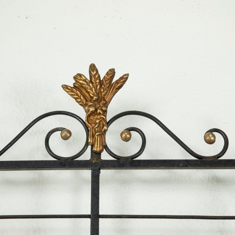 Small Scale Early 20th Century French Iron and Brass Baker's Rack or Shelves For Sale 2