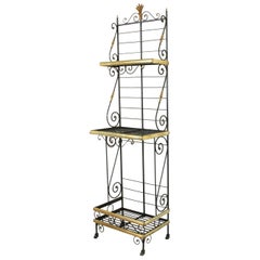 Small Scale Early 20th Century French Iron and Brass Baker's Rack or Shelves