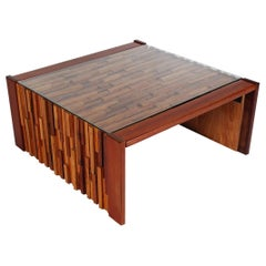 Small Scale Mid Century Modern Exotic Wood Coffee Tables by Percival Lafer