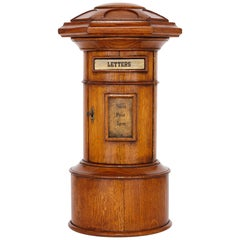 Small-Scale Oak Royal Mail Pillar Letter Box