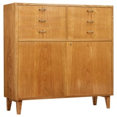 Small Scandinavian Mid-20th Century Elm Sideboard
