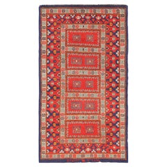 Small Scatter Size Antique Israeli Marbediah Rug. Size: 2 ft 10 in x 5 ft 1 in