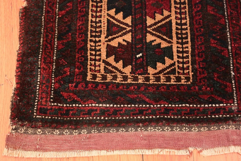Tribal Small Scatter Size Antique Persian Baluch Rug For Sale