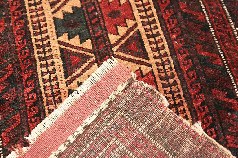 20th Century Small Scatter Size Antique Persian Baluch Rug For Sale