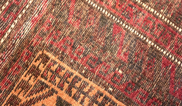 Wool Small Scatter Size Antique Persian Baluch Rug For Sale