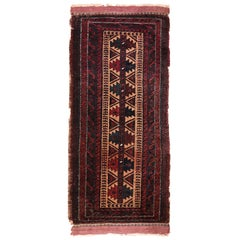 Small Scatter Size Antique Persian Baluch Rug