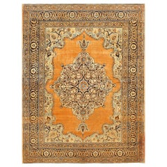 Small Scatter Size Antique Persian Tabriz Rug. Size: 4 ft 7 in x 6 ft