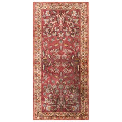 Small Scatter Size Floral Antique Turkish Silk Rug