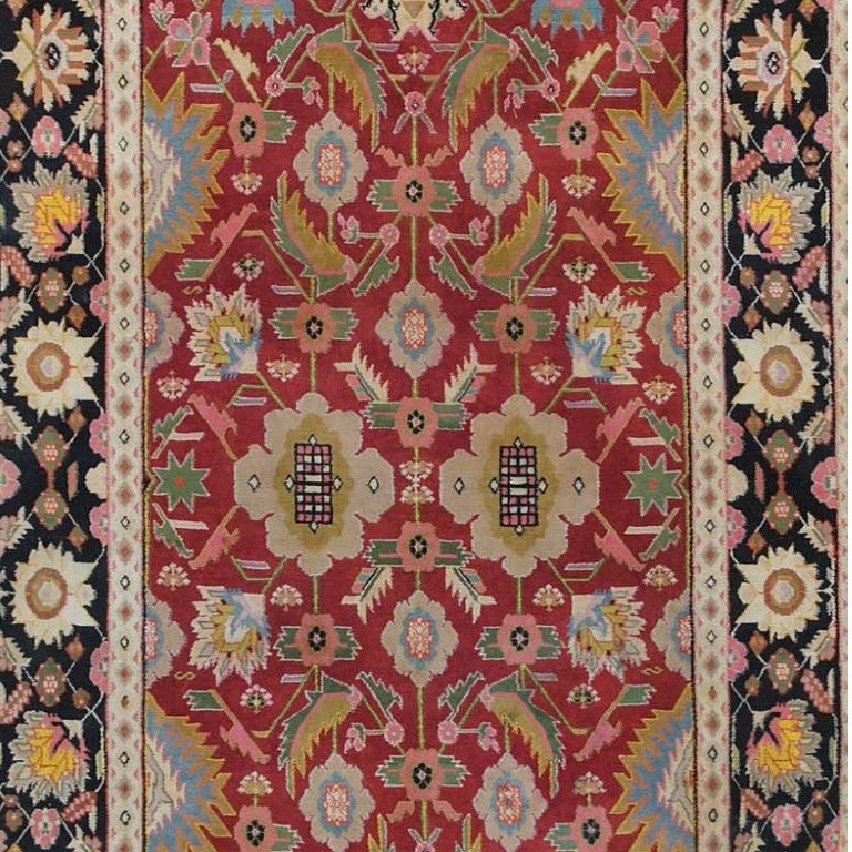Beautiful Small Scatter Size Antique Jewel Tone Cotton Indian Agra Rug , Origin: India, Circa: Early 20th Century. Size: 4 ft x 6 ft (1.22 m x 1.83 m)