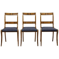 Small Set of 3 1920s Birch Chairs Attributed to David Blomberg