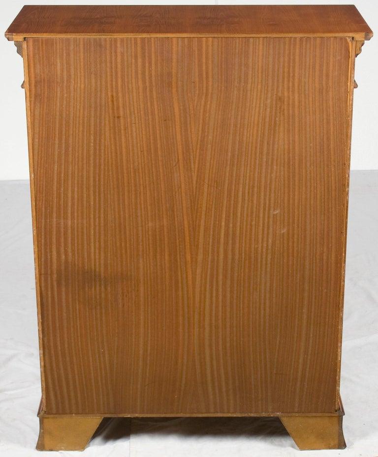 Small Short Open Yew Wood Adjustable Bookcase Bookshelf