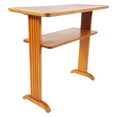 """Small Side Table in Elmwood and """"Bosaik"""" by Otto Schulz, Boet"""