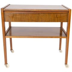 Small Side Table with Drawer in Teak of Danish Design from the 1960s