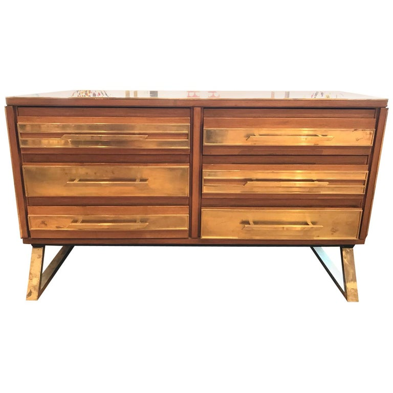 Small Sideboard, Made in Italy by Craftsman, Handmade, 1990s For Sale