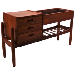 Small Sideboard of Teak with Drawers and Shelves Designed by Arne Vodder, 1960s