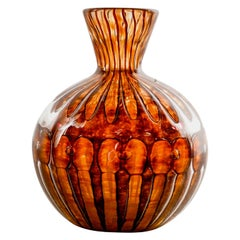 Small Signed Amber Color Verlys Vase