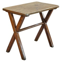 Small Single Plank X Frame Tavern Table