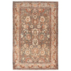 Small Size Antique Malayer Persian Rug. Size: 4 ft 4 in x 6 ft 5 in