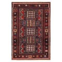Small Size Antique Tribal Caucasian Kazak Rug. 5 ft 1 in x 7 ft 6 in