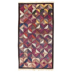 Small Size Vintage Chinese Art Deco Rug. Size: 3 ft 1 in x 5 ft 8 in