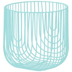 Small Sized Basket, Wire Basket Design by Bend Goods, Aqua