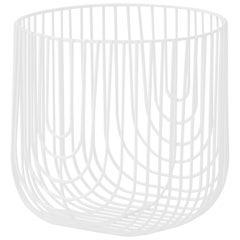 Small Sized Basket, Wire Basket Design by Bend Goods, White